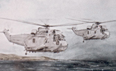 Fine art prints of Sea King helicopter